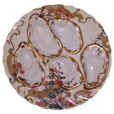 1876-1889 Antique Haviland & Co. Limoges  Oyster Plate, Aesthetic Period