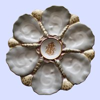 Antique French Mansard Oyster Plate, Stunning Decoration