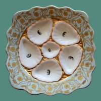 """Antique Marx & Gutherz """"Square"""" Oyster Plate, Austria, Robin's Egg Blue"""