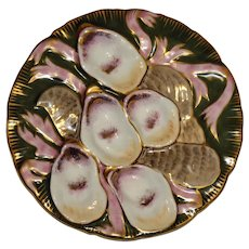 Antique Turkey Oyster Plate by Carl Tielsch