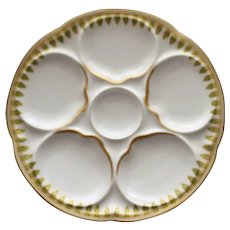 Antique French Theodore Haviland Limoges Oyster  Plate