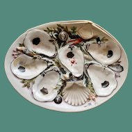 Antique Union Porcelain Works (UPW) Large Clam Shaped Oyster Plate - Striking