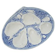 Antique UPW (Union Porcelain Works) Light Blue Oyster Plate