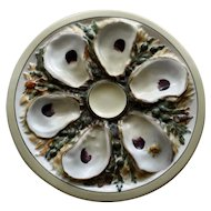Antique UPW (Union Porcelain Works) Round Oyster Plate