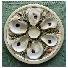 Antique Union Porcelain Works (UPW) Oyster Plate