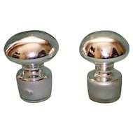 Pair of Vintage Mercury Glass Stoppers