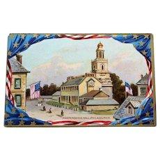 Antique English Raphael Tuck Postcard - Independence Hall, Philadelphia, Independence Day