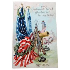 Antique English Raphael Tuck Postcard - Decoration Day