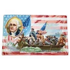 Antique Tuck Washington Crossing the Delaware Postcard