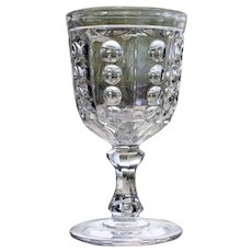 """Pillar"" Flint Goblet, Early American Pattern Glass, by Bakewell Pears, 1850's"