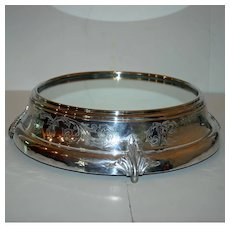 Grand Antique Mirrored Silverplate Plateau