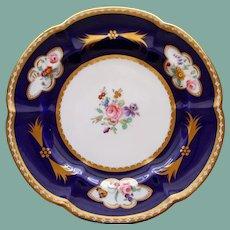 Vintage English Copeland Grosvenor Cobalt & Gold China Plate