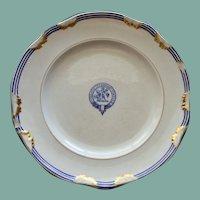 "c. 1800 English Sharpus & Co. Burnett (Scottish) Clan Plate w Crest, Motto ""Virescit Vulnere Virtus""  #2"