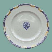 "c. 1800 English Sharpus & Co. Burnett (Scottish) Clan Plate w Crest, Motto ""Virescit Vulnere Virtus"" #1"