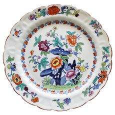 "Antique Booths ""The Pompadour"" Silicon China Dinner Plate 10.25 Inches"