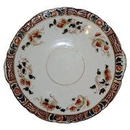 Antique Cake Plate with Imari Colors -- Cobalt and Deep Orange