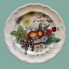 """12.5 Inch English Spode Chop Plate or Round Platter in Vivid """"Reynolds"""" Pattern"""