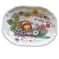 Spode 12 Inch by 9 Inch Platter in Colorful Reynolds Pattern