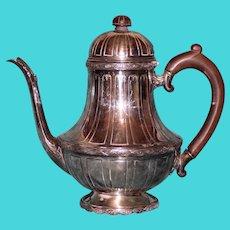 "Antique Wm. A. Rogers Silver Plate Coffee Pot ""St. Paul's"""