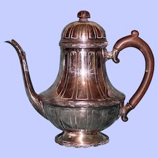 "Antique Wm. A. Rogers Silver Plate Coffee Pot ""St. Paul's"""