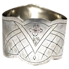 Antique Sterling Russian Napkin Ring