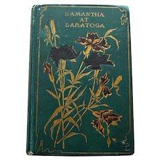Samantha at Saratoga by Marietta Holley