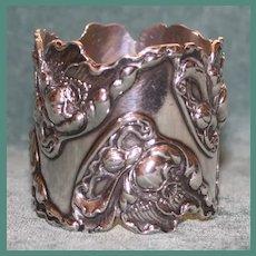Magnificent George Shiebler Antique Sterling Napkin Ring, Art Nouveau