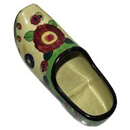 Vintage Japanese Majolica Dutch Shoe