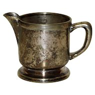 "Individual Cream  Pitcher, ""Sterling Plate on Nickel Silver"""