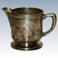 """Individual Cream  Pitcher, """"Sterling Plate on Nickel Silver"""""""