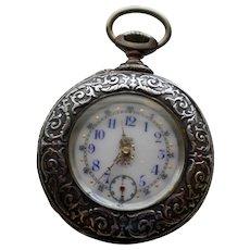 Silver c. 1890 Swiss Watch