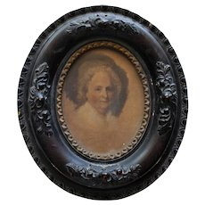 Portrait of Martha Washington  in Antique Oval Frame