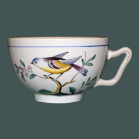 """English Spode """"Queen's Bird"""" Cups, Y 4973, 5 Available"""