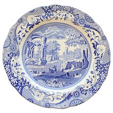 Spode Vintage Blue Italian Dinner Plate 10.25 Inches