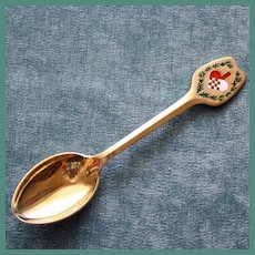 A. Michelsen 1951 Sterling and Enamel Christmas Spoon