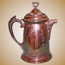 Antique Large Silverplate New Amsterdam Water Pot