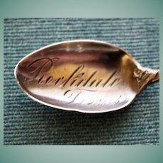 Rockdale, Texas Sterling Souvenir Spoon by Watson