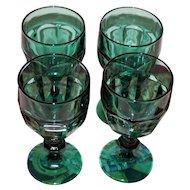 Set of 8 Fenton Spruce Green Glasses