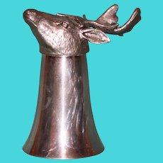Stag Head Stirrup Cup