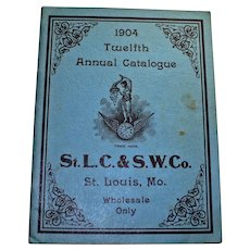 1904 St. Louis Clock and Silverware Company Catalog Reprinted in 1962
