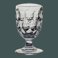 "1840's ""Stocky Mirror"" Flint Goblet, Early American Pattern Glass"