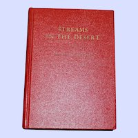 """""""Streams in the Desert"""" compiled by Mrs. Charles E. Cowman, 1925"""