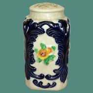 Vintage Japanese Pottery Sugar Shaker, Strong Cobalt Decoration