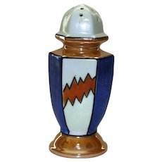 Art Deco Luster Ware Sugar Shaker, Hand Painted