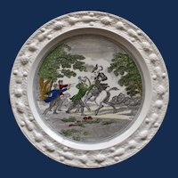 "English ""Doctor Syntax Stopt by Highwaymen"" Vintage Plate by Adams"