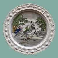 """English """"Doctor Syntax Stopt by Highwaymen"""" Vintage Plate by Adams"""