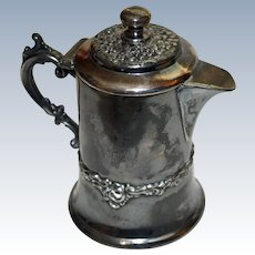 Antique Silveplate Syrup Pitcher by New England Silver Plate Co.
