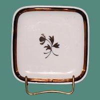Vintage Red-Cliff Ironstone Tea Leaf Butter Pat