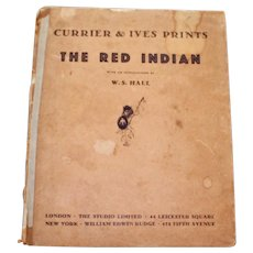 """The Red Indian"" 1931 Book of Currier and Ives Prints"