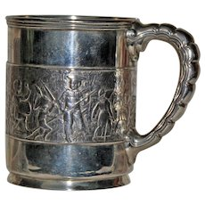 """Tiffany Sterling Child Mug or Cup """"Children's Parade"""" 1891-1902"""